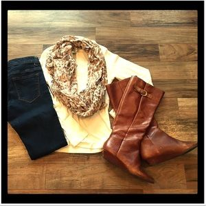 Leather boots (cognac color)